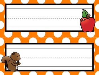 Nameplates / Deskplates / Classroom Labels {Autumn / Fall}