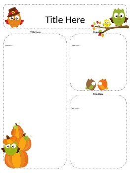 Fall Newsletter Templates - Set of 9