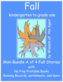 Fall - No Prep - 4 Printable Books - Mini-Bundle A - K to grade 1