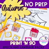 Autumn No Prep Activities For Speech & Language Therapy