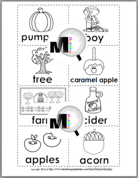 Nouns and Verbs Sort - Autumn
