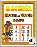 Nouns and Verbs Sort - Autumn