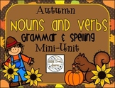 Autumn Nouns and Verbs Grammar and Spelling Min-Unit