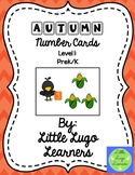 Fall Scarecrow (Level 1) Autumn Number Cards