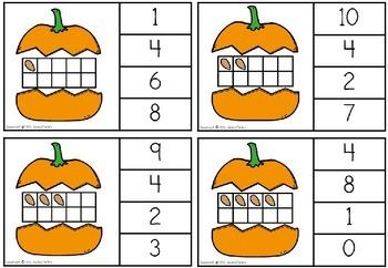 Autumn Number Clip Cards
