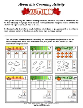Autumn Number Counting Activities