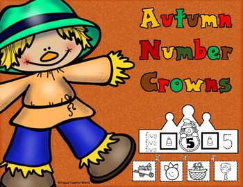 Autumn Number Crowns
