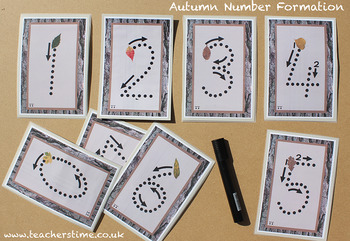 Autumn Number Formation