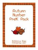 Autumn Number PreK Printable Learning Pack