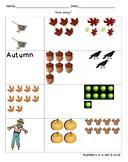 Autumn Number Quantity 0-10
