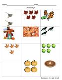 Autumn Number Quantity 0-5