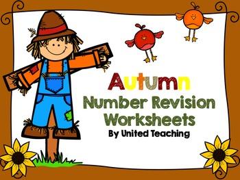 Autumn Number Revision Worksheets