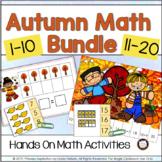 Autumn Number Sense Activities 1 to 20 Bundle