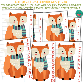 Autumn Number Sequence Puzzles