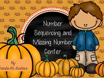 Autumn Number Sequence and Missing Number Center