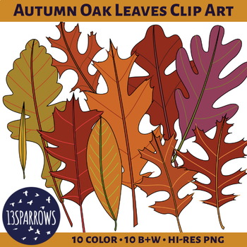 Autumn Oak Leaves Clip Art