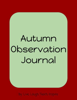 Autumn Observation Journal