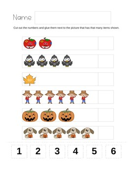 Autumn October Activity Bundle for Preschool and Toddler