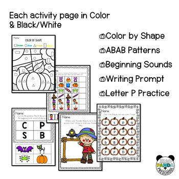 Fall and Autumn Preschool Activities
