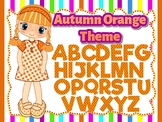 Autumn Orange Theme: 100 Alphabet, Numbers and Symbols clip arts