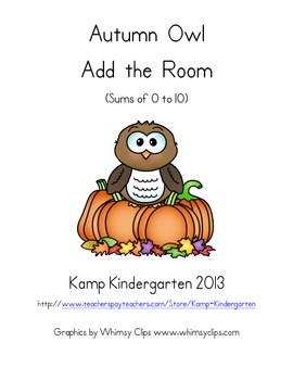 Autumn Owl Add the Room (Sums of 0-10)