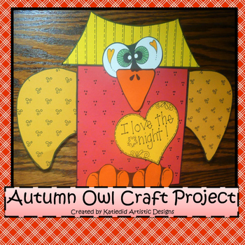 Fall Craft, Owl Craft!
