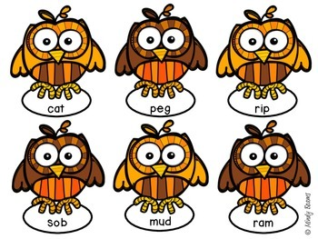 Autumn Owl Long and Short Vowel Sort