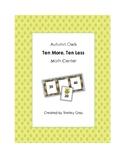 """Autumn Owls """"10 More, 10 Less"""" Math Center"""