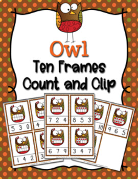 Autumn Owls Count and Clip Cards Numbers 0-10