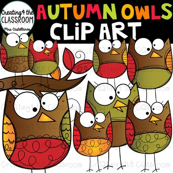 Autumn Owls {Owl Clip Art}