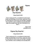 Autumn PJ Day Parent Letter