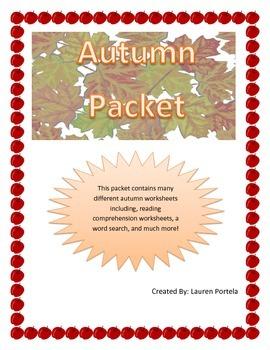 Seasons- Autumn Packet