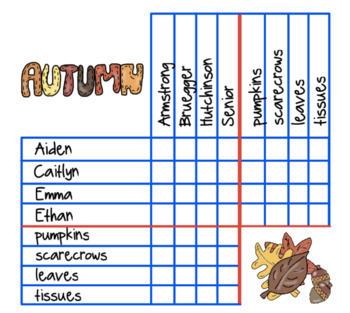 Fall Theme Logic Puzzle : Autumn Paintings