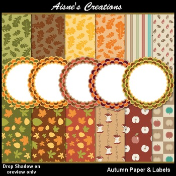 Autumn Papers & Labels