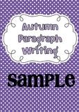 Autumn Paragraph Writing { Sample Freebie }