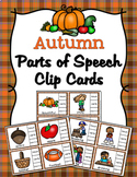 Autumn Parts of Speech Clip Cards