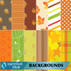 Autumn Patterns for Backgrounds or Digital Paper