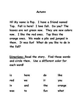 Autumn - Phonics, Fluency and Fun!