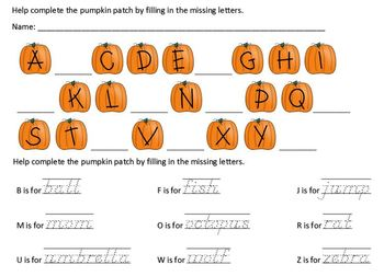 Autumn Phonics Printable