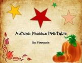 Autumn Phonics Printable