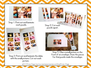 *EDITABLE* Autumn Photography Number Order Math Center