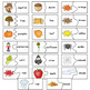 Autumn Picture & Word Self Correcting Match Cards