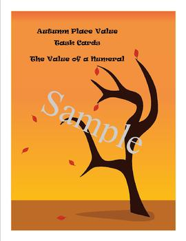 Autumn Place Value Task Cards - The Value of a Numeral