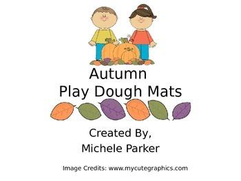 Autumn Play Dough/Play-Doh/Playdough Mat FREEBIE