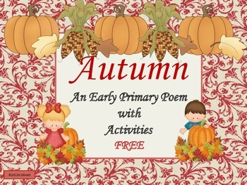 Autumn Poem and Activities for Early Primary and ESL/ELL N