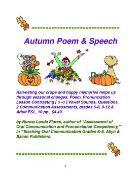 Autumn Poem  Speech