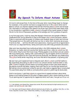 Autumn Poem  Speech