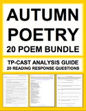 Autumn Poetry Bundle: Autumn ELA Activities