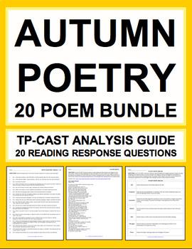 Autumn Poetry Bundle: Autumn ELA Activities