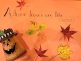 Autumn Poetry Through Similes